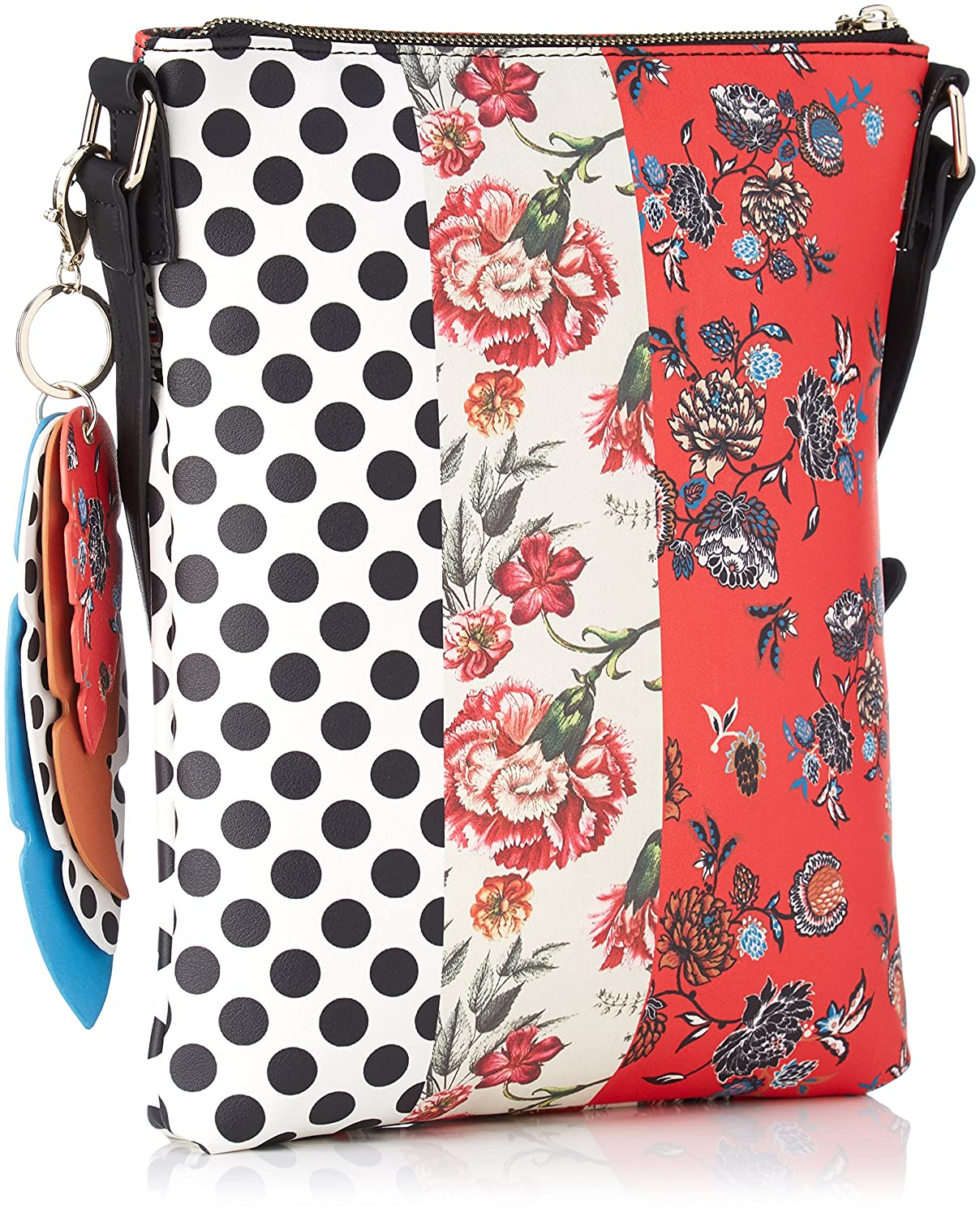 Desigual BOLS TRIPATCH GHANA Bisacce//Tracolle donne Bianco//Rosso Tracolle