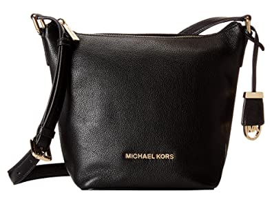 d1c5fbf0c775 Amazon.com  Michael Kors Bedford Leather Messenger Bag - Black  Shoes