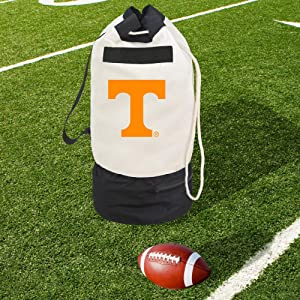 Smart Design Collegiate Heavy Duty Duffel Bag w/ 2 Compartments – 15 x 30 inch - Canvas - University of Tennessee Team Design - Officially Licensed Logo - White & Orange Colors - [Volunteers]