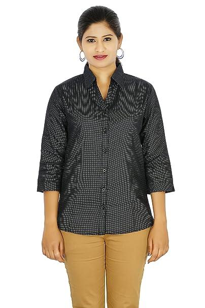 9890fd50b4a03 Latest Fashion Designer Formal Shirt For Womens   Girls and Ladies Western  Wear   Office Wear   Daily Wear Shirt By Fashion Club (large