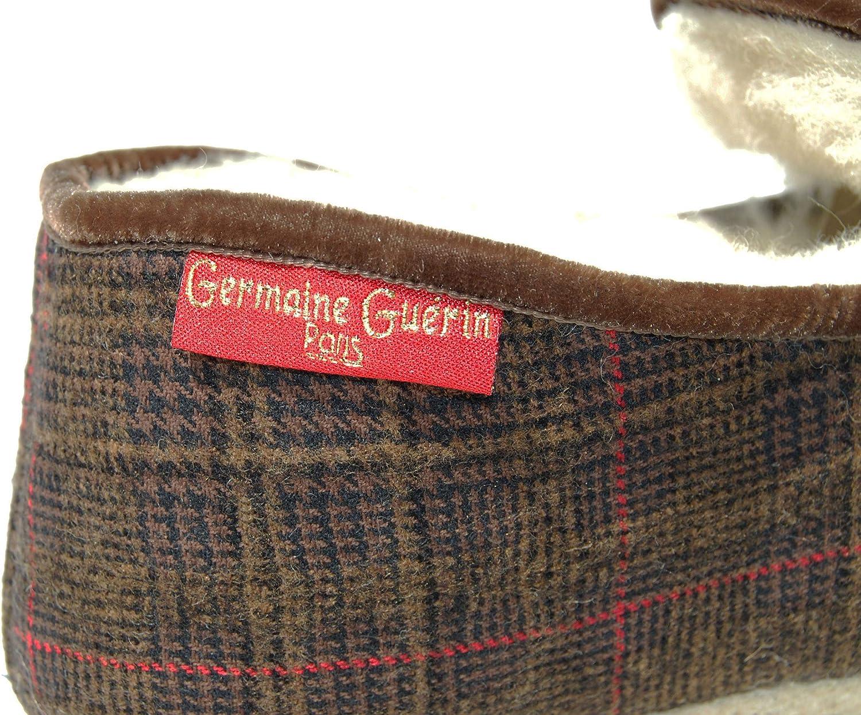 Germaine Gu/érin Pantoufles BROUAGE Charentaises 100/% fran/çaises Prince de Galles fourr/ées int//ext Pure Laine