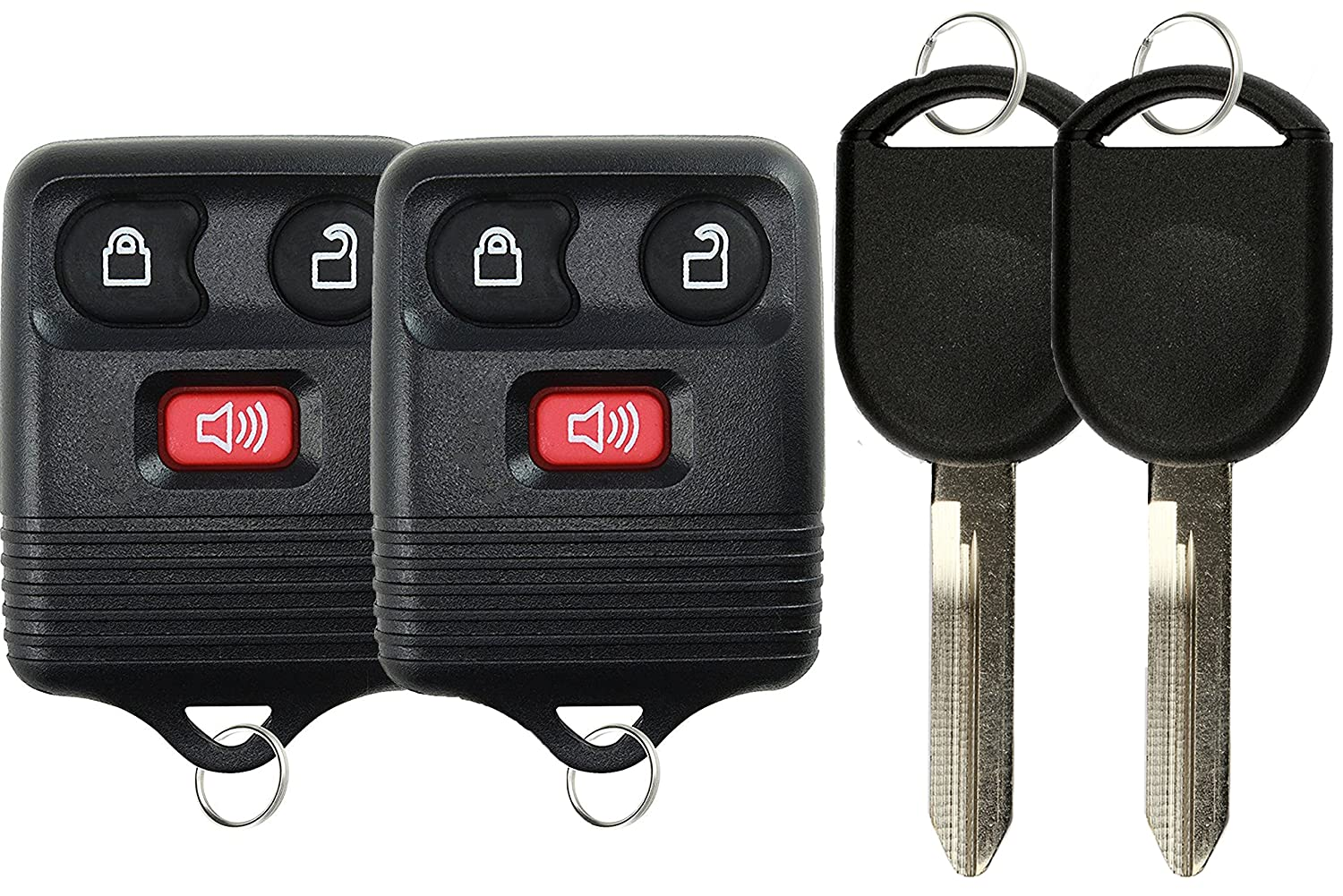 KeylessOption Keyless Entry Remote Control Fob Uncut Blank Car Ignition Key For GQ43VT11T Pack of 2 CWTWB1U345