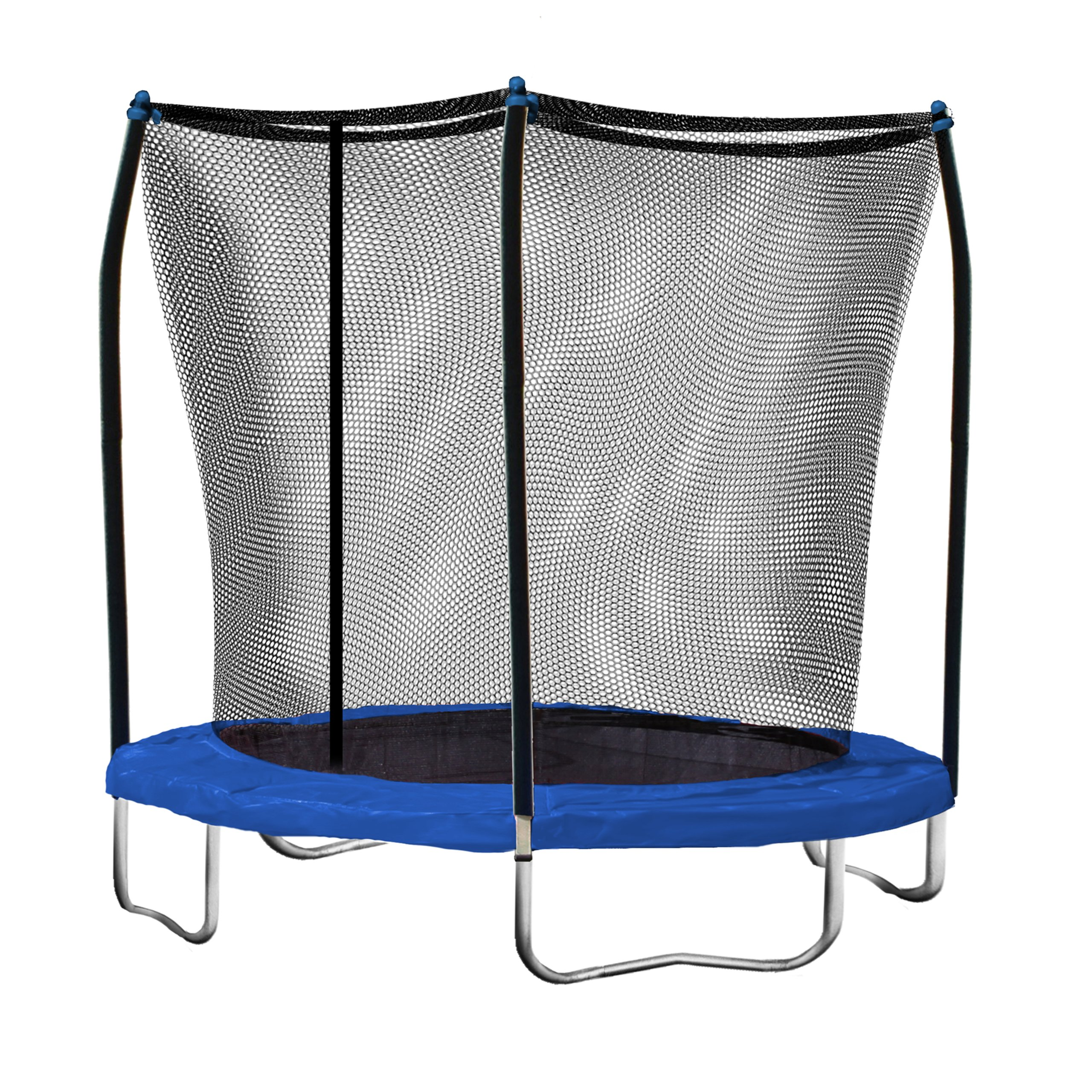 Skywalker Trampolines 8 Ft. Round Trampoline and Enclosure with Blue Spring Pad by Skywalker Trampolines