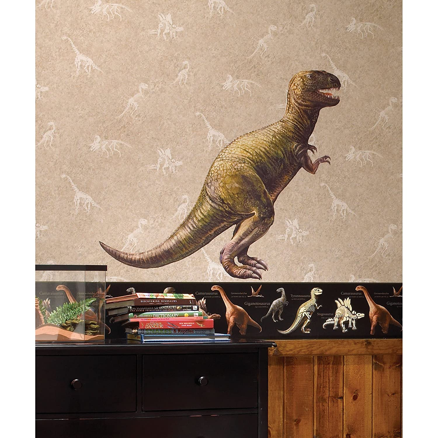 Amazon roommates ck7849 dinosaur peel and stick giant wall amazon roommates ck7849 dinosaur peel and stick giant wall decal home improvement amipublicfo Image collections