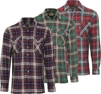 Champion Camisa de Trabajo Kempton Hombre, 100% algodón, Cuadros Escoceses, Cuadros, leñador (3 Unidades, M – 40 Pulgadas de Pecho): Amazon.es: Ropa y accesorios
