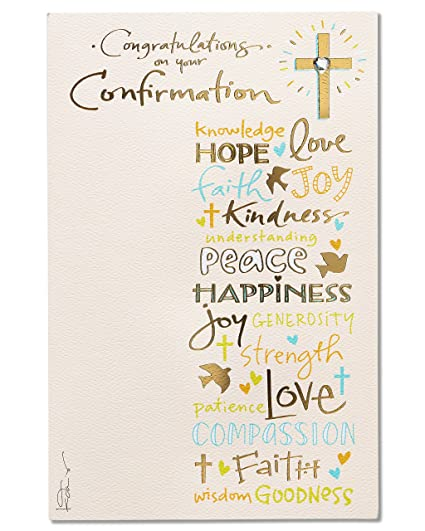 amazon com american greetings religious confirmation