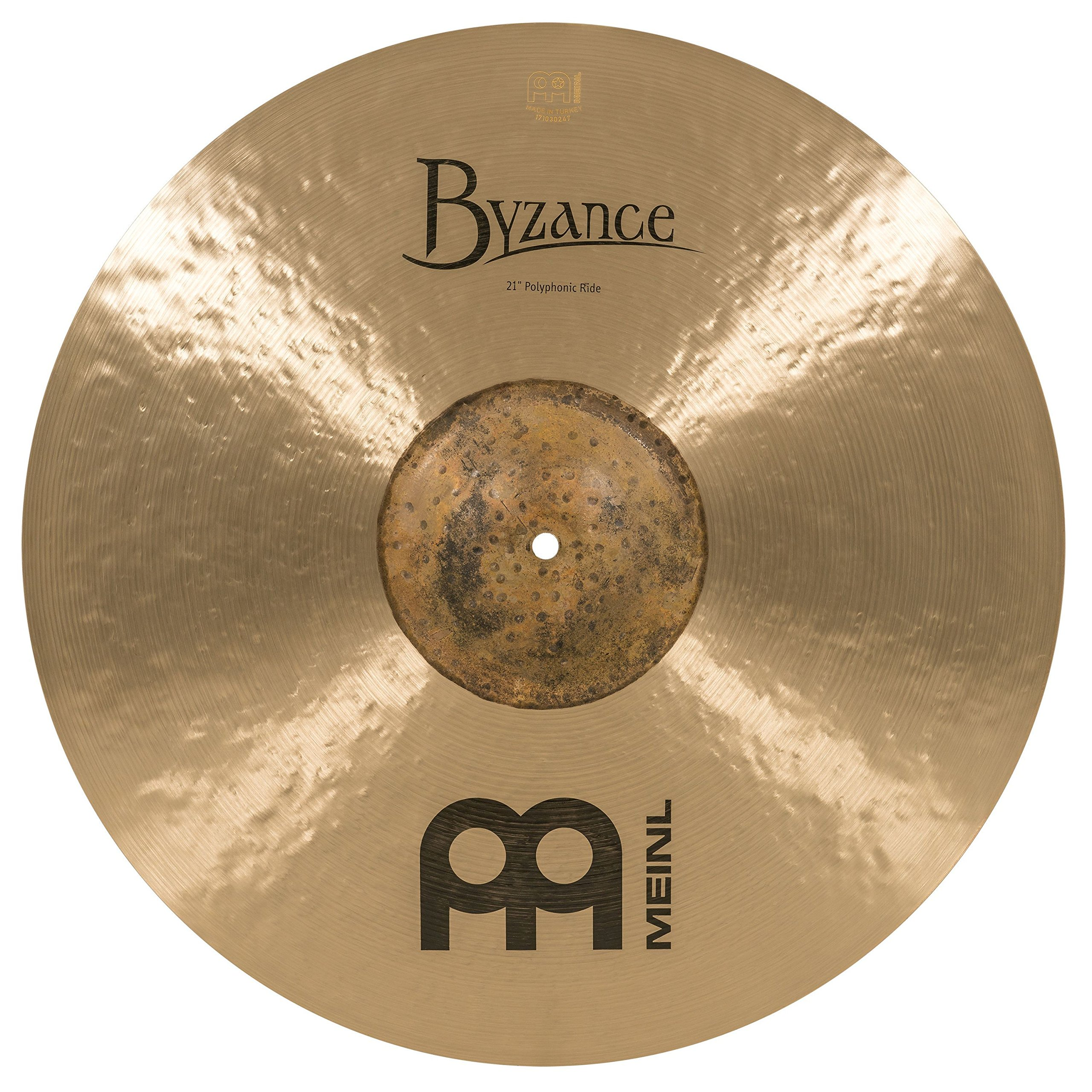 Meinl Cymbals Byzance Traditional Polyphonic Ride Cymbal (B21POR) by Meinl Cymbals