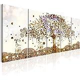 murando - Quadro Albero della Vita Klimt 200x80 cm - Quadro - XXL Formato - Quadro su fliselina - Stampa in qualita Fotografica - 5 Parti - Astratto l-A-0009-b-n