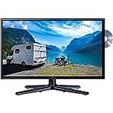 Reflexion LDDW-19 Wide-Screen LED-Fernseher (19 Zoll) für Wohnmobile mit DVB-T2 HD, DVD-Player, Triple-Tuner und 12 Volt Kfz-Adapter (12 V/24 V, HD Ready, HDMI, USB, EPG, CI+, DVB-T Antenne), schwarz