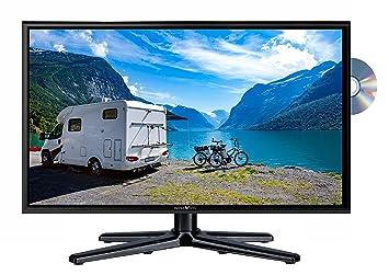 Reflexion LDDW-20N Wide-Screen LED-Fernseher (20 Zoll) für Wohnmobile mit DVB-T2 HD, DVD-Player, Triple-Tuner und 12 / 24 Vol