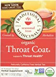 Traditional Medicinals Organic Throat Coat Herbal Wrapped Tea Bags - 16 ct