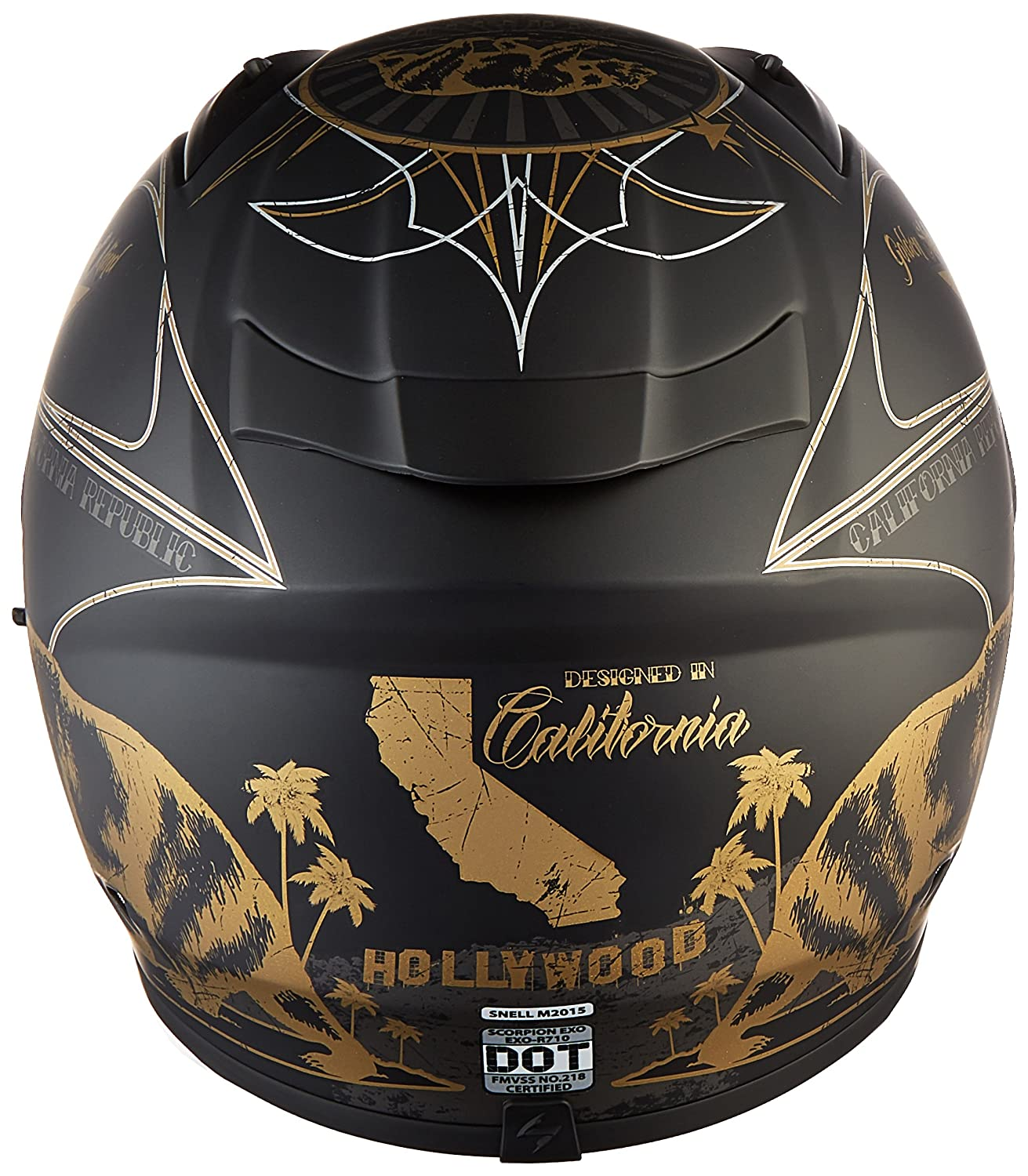 Amazon.com: Scorpion EXO-R710 Golden State Street Motorcycle Helmet (Black, Large): Automotive