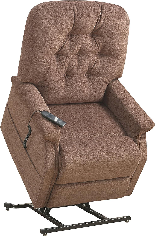 Pulaski Button Tufted Lift Chair in Saville Brown