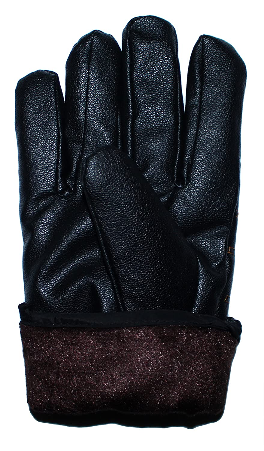 GILBINS Mens 4 Pack Touchscreen Texting Cold Weather Faux Leather Warm Fleece Lined Driving Gloves