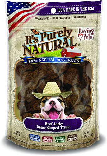 Loving Pets Products It s Purely Natural Dog Treat, 4-Ounce