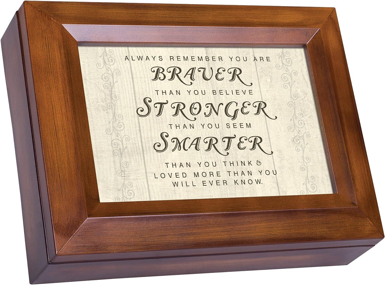 Cottage Garden You are Braver Stronger Smarter Woodgrain Digital Keepsake Music Box Plays I Can Only Imagine