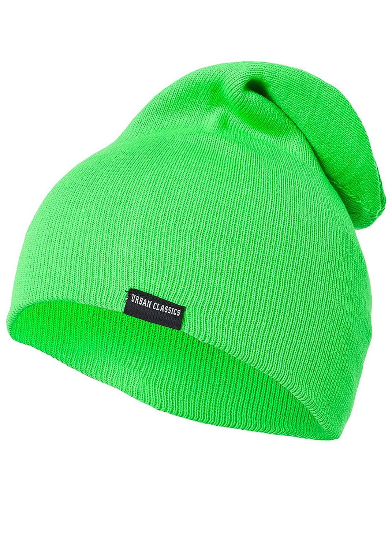 Urban Classics Mütze Neon Long Beanie, Farbe: grün