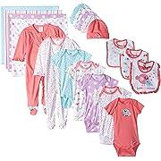 Gerber Baby Girls' 19 Piece Baby Essentials Gift Set, Birdie, Newborn