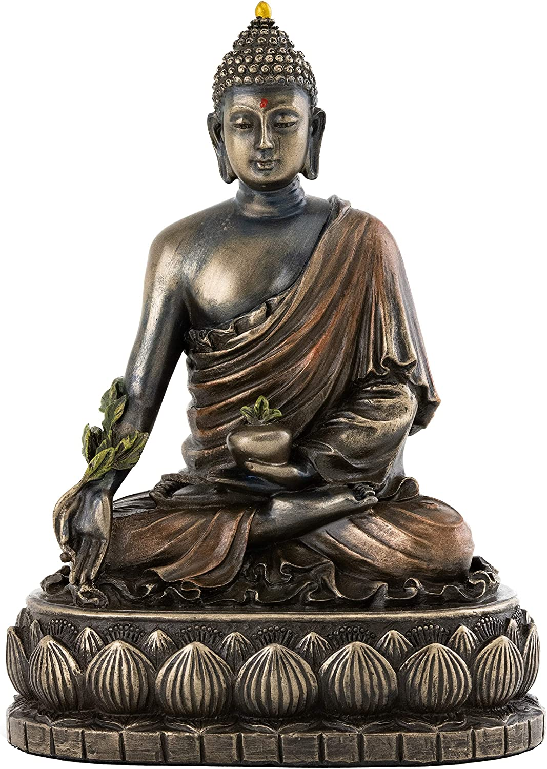 Top Collection Medicine Buddha Statue - Buddha of Healing Sculpture in Premium Cold Cast Bronze- 5.5-Inch Collectible Figurine