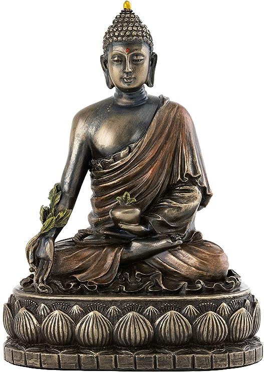 Top Collection Figura Coleccionable De Buda De La Medicina De La Escultura Curativa En Bronce Fundido En Frío De Primera Calidad 5 1 In Home Kitchen
