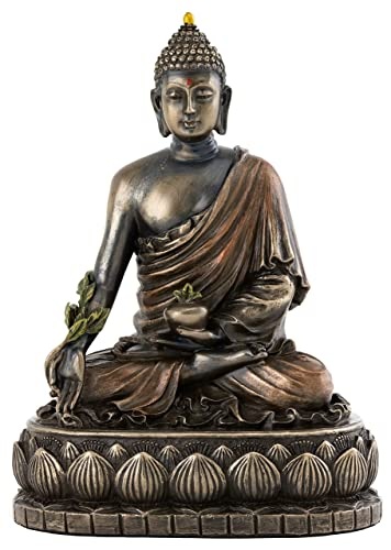 Top Collection Medicine Buddha Statue – Buddha of Healing Sculpture in Premium Cold Cast Bronze- 5.5-Inch Collectible Figurine