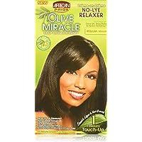 African Pride Olive Miracle Deep Conditioning No-lye Relaxer Kit, Regular (SG_B00K0L9IYS_US)