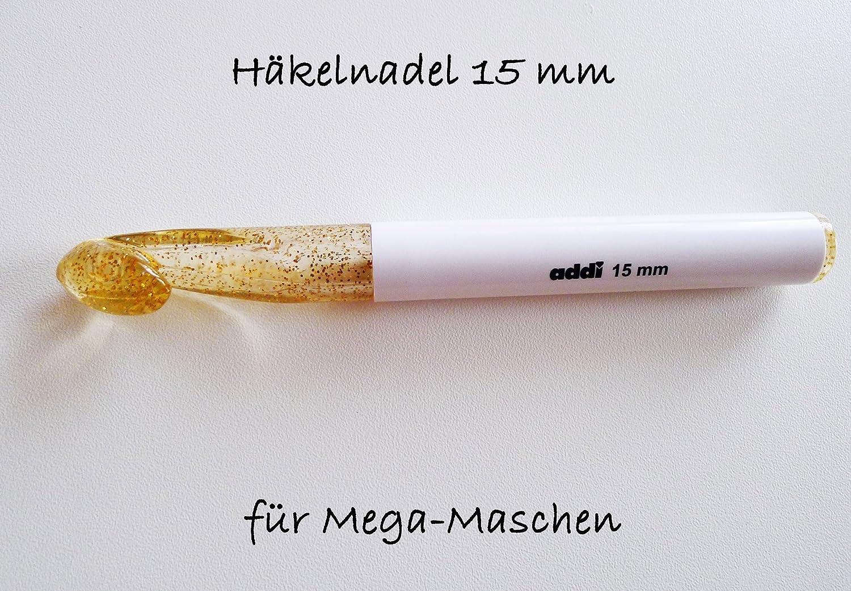 Goldglitter alle Größen 445-7 addi WOLLHÄKELNADEL Häkelnadel CHAMPAGNER Kunstst