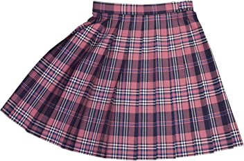 WKR307-L ピンク×紺・白 W75・80・85 丈48cm KURI-ORI[クリオリ]スリーシーズンスカート seifuku skirt