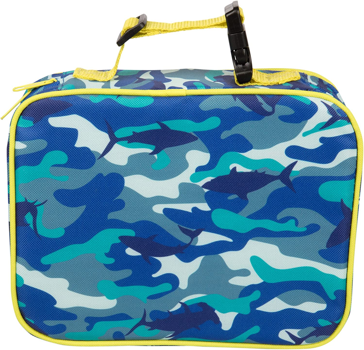 """Insulated Durable Lunch Box Sleeve - Reusable Lunch Bag - Securely Cover Your Bento Box, Works with Bentology Bento Box, Bentgo, Kinsho, Yumbox (8""""x10""""x3"""") - Camo"""
