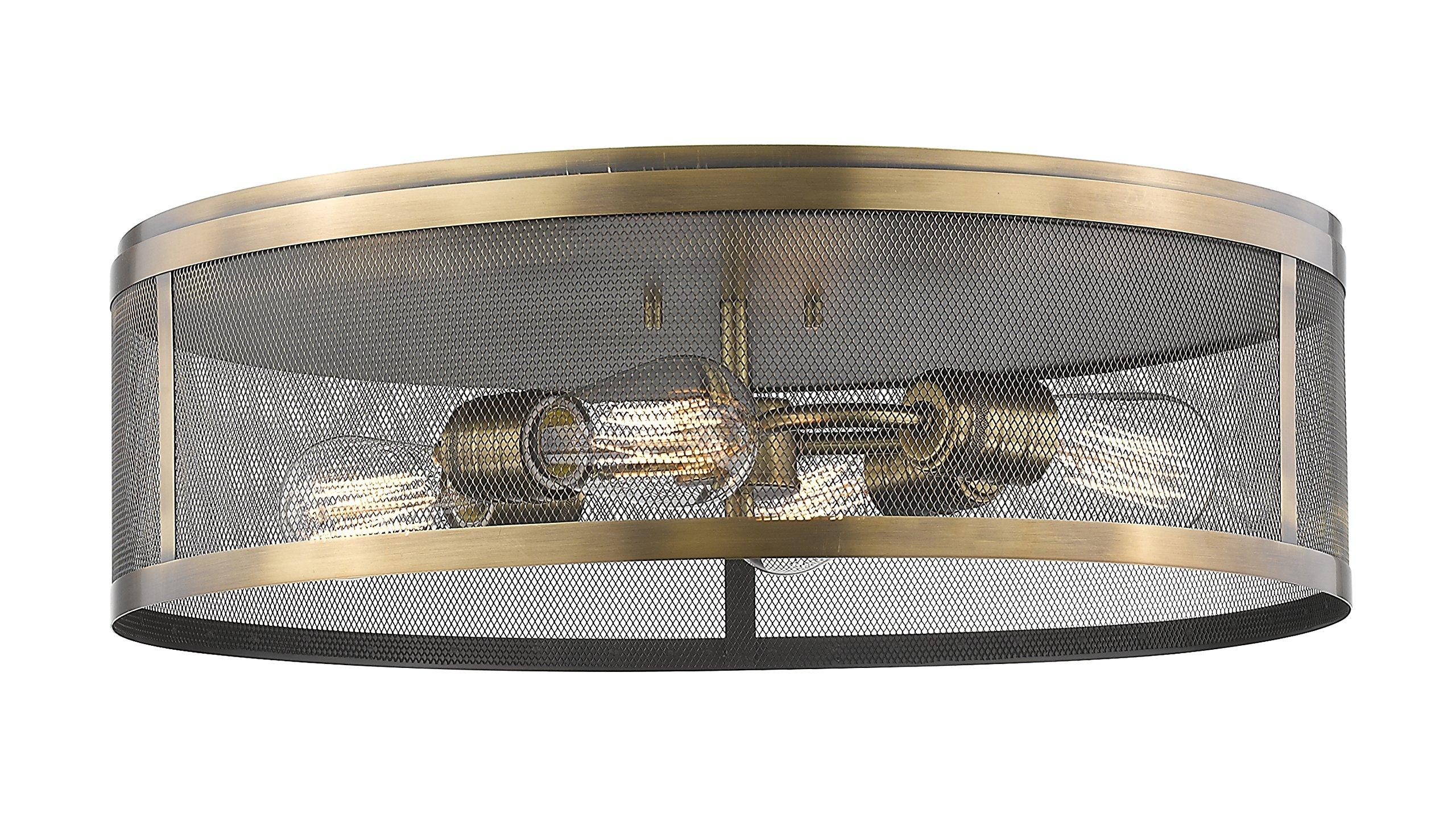 Z-Lite 331F21-NB 4 Light Flush Mount 4