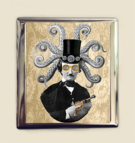Amazon Edgar Allan Poe Steampunk Cigarette Case Business Card