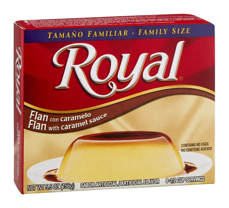 Royal, tamaño familiar, flan con caramelo postre mezcla ...