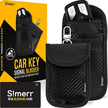 2 X Car Key Signal Blocking Pouch Cloakmate Bag Protector Keyless Fobs Blocker