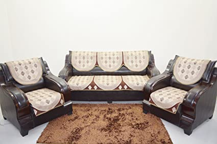 KINGLY Sofa Cover Set of 6PC(3+1+1)