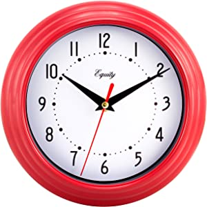Equity by La Crosse 25021 8 Inch Red Analog Wall Clock