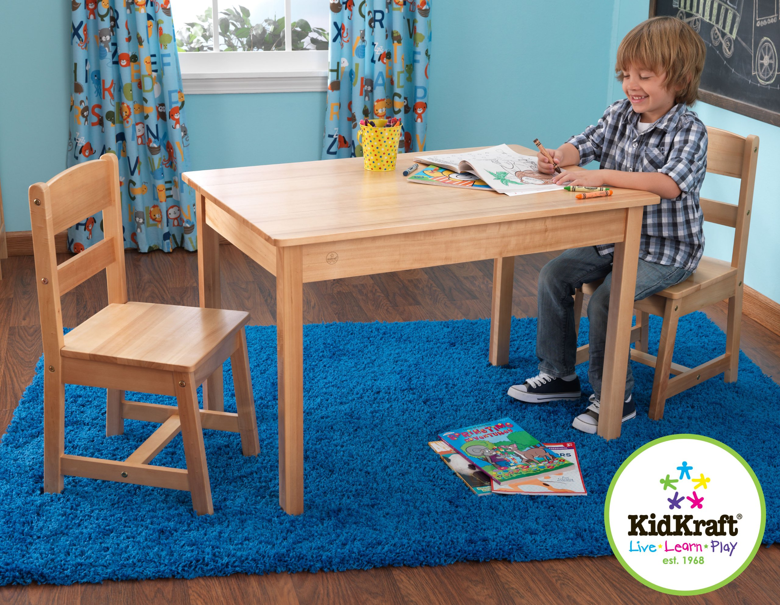 KidKraft Rectangle Table And 2 Chair Set - Natural by KidKraft (Image #1)
