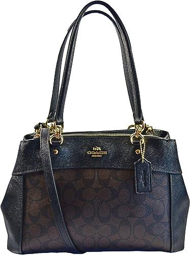 18dbd912839e Coach F25396 Brook Carryall Satchel Crossbody Bag Brown Black  Handbags   Amazon.com