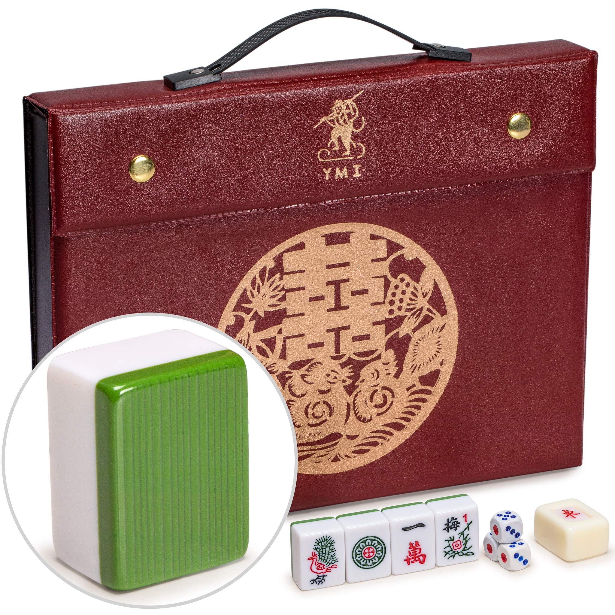 Yellow Mountain Imports Professional Chinese Mahjong Game Set, ''Standard''