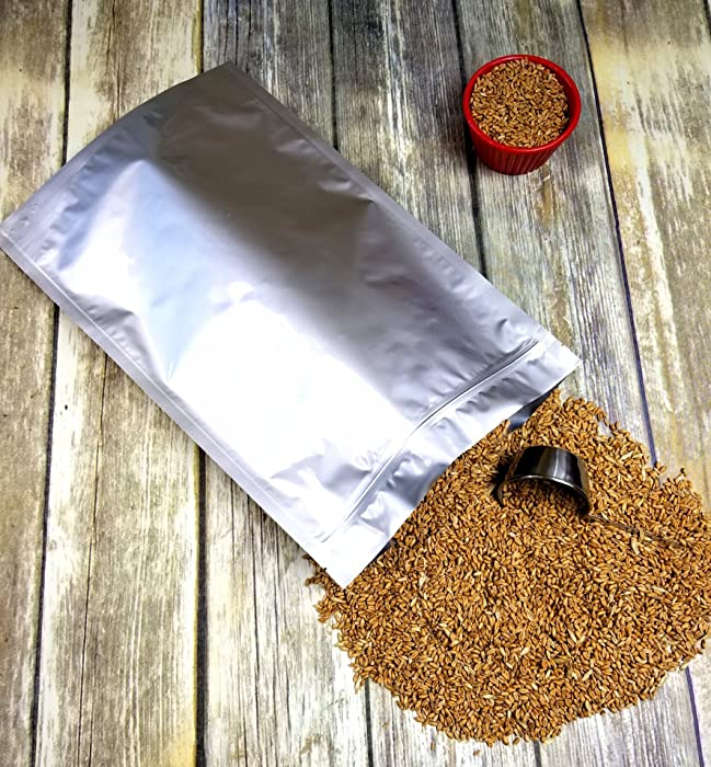 """ShieldPro Odor-Proof Ziplock 5 Mil 1 Gallon Gusseted 10""""x16""""x4"""" Aluminum Foil Mylar Bag for Long Term Storage of Food, Herb, Seeds, Organics and Pharma (50)"""