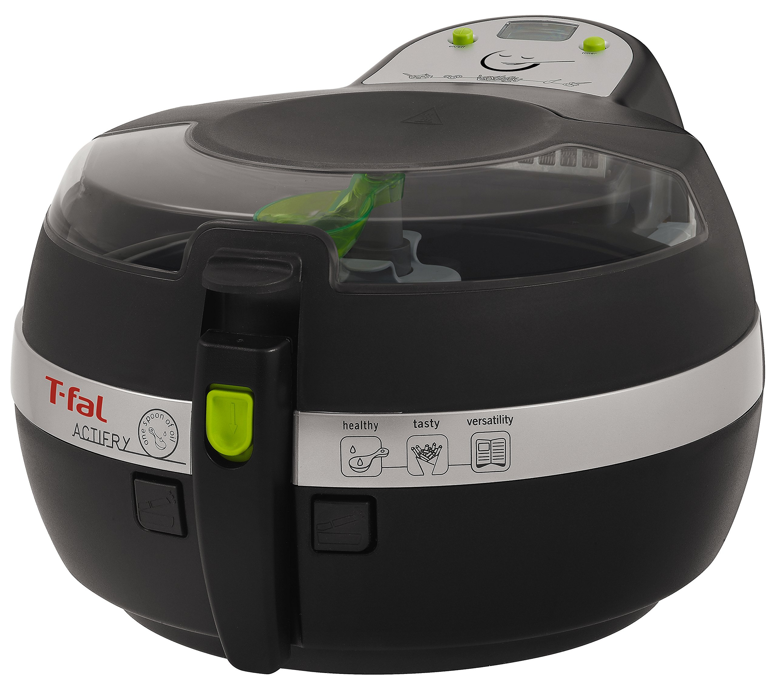 T-fal FZ700251 Actifry Oil Less Air Fryer with Large 2.2 Lbs Food Capacity and Recipe Book, Black by T-fal