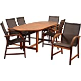 Amazon.com : Amazonia Lemans 7-Piece Deluxe Dining Set : Outdoor And ...