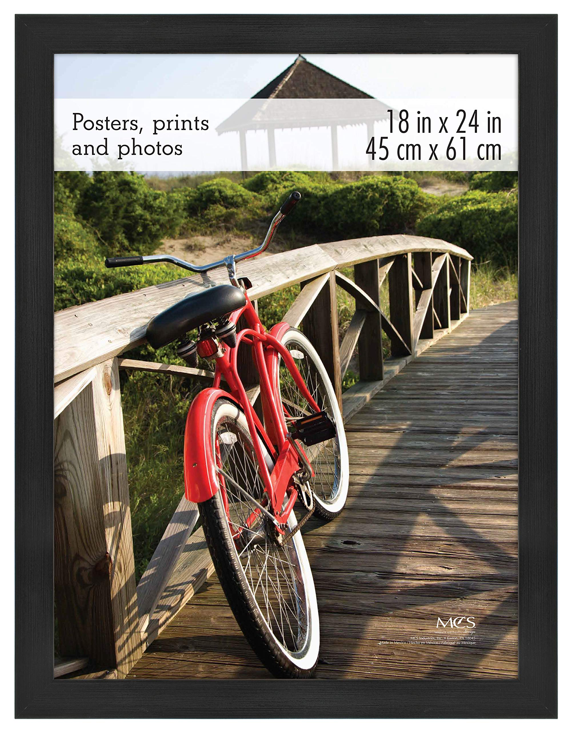 MCS 68857 Museum Poster Frame Onyx Woodgrain 18x24 Inch, 1 Frame by MCS Frames