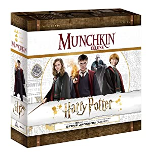 Munchkin Deluxe Harry Potter Board Game | Officially Licensed Harry Potter Gift | Collectible Steve Jackson's Munchkin Game
