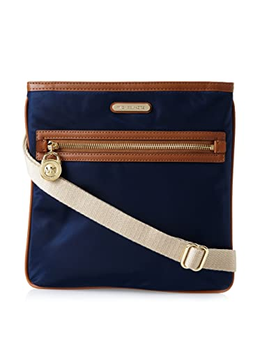 e2f791e550d84f Michael Kors Women's Kempton Large Nylon Cross-Body, Navy, One Size:  Handbags: Amazon.com