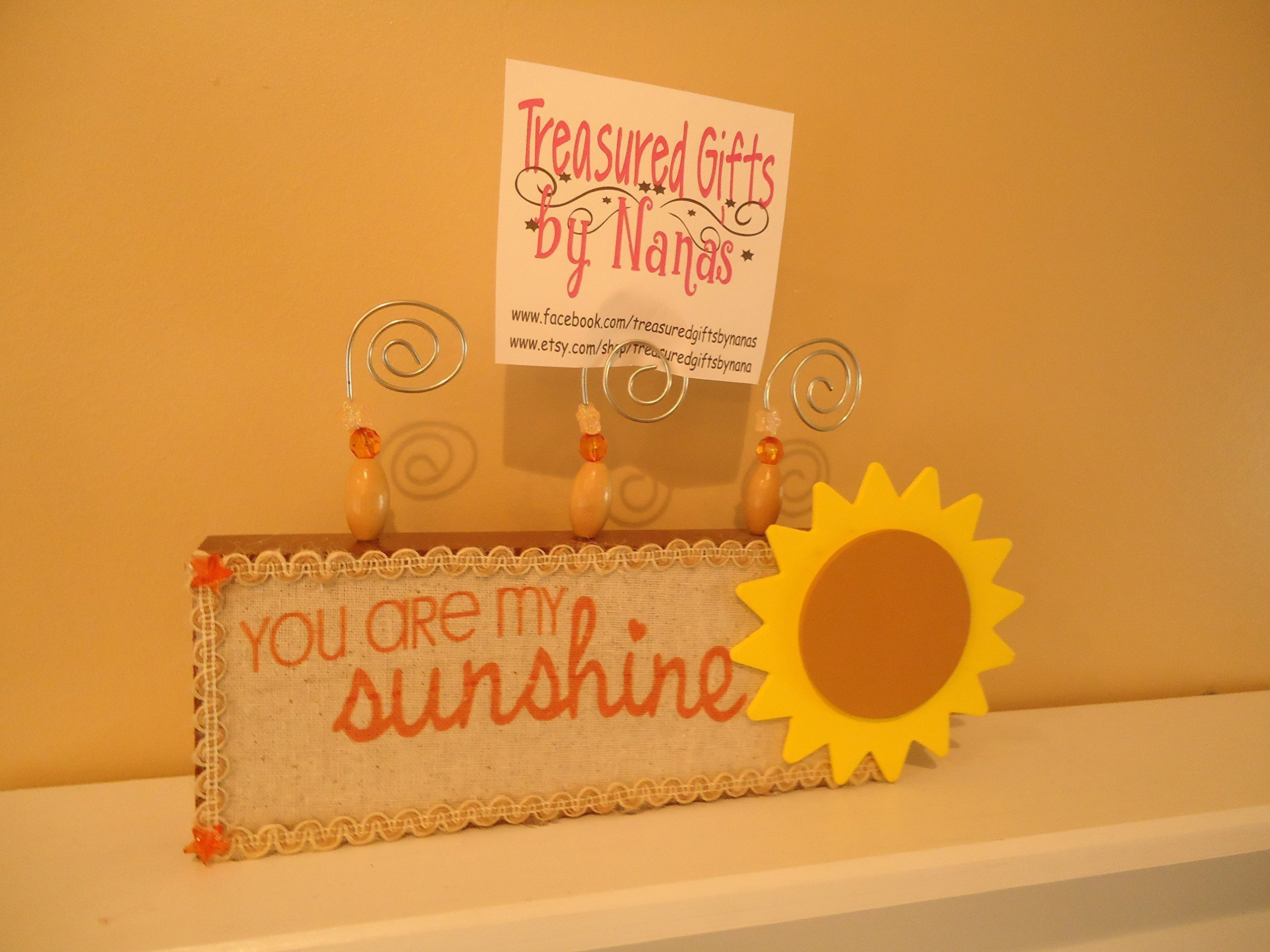 You are my Sunshine Sunflower Picture Holder Block