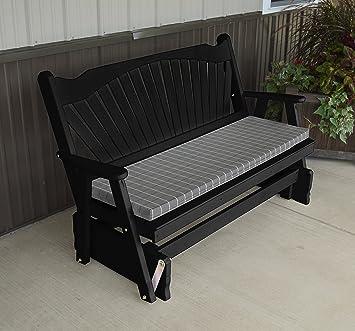 Mejor porche mobiliario Poly Glider – banco de madera, 5 ventilador jardín asientos,