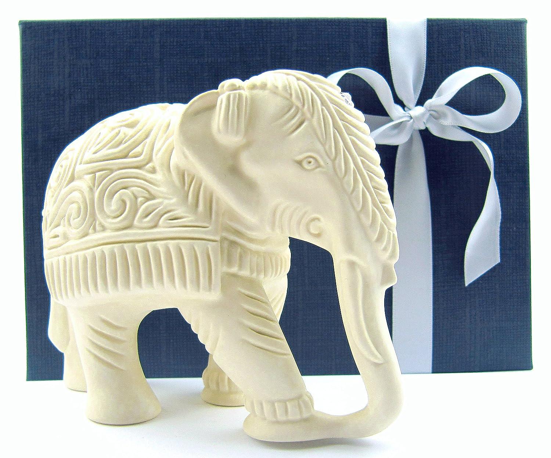 Beeindruckende Elefanten Figur im Set, mit sehr aufwendiger Gravur ...