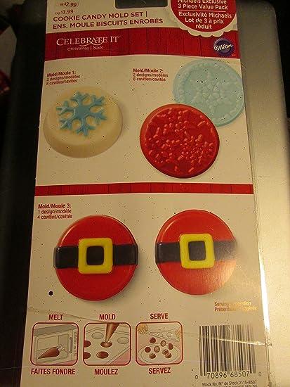 Amazon com: Celebrate it cookie Candy Mold Set (3 sheet pack set