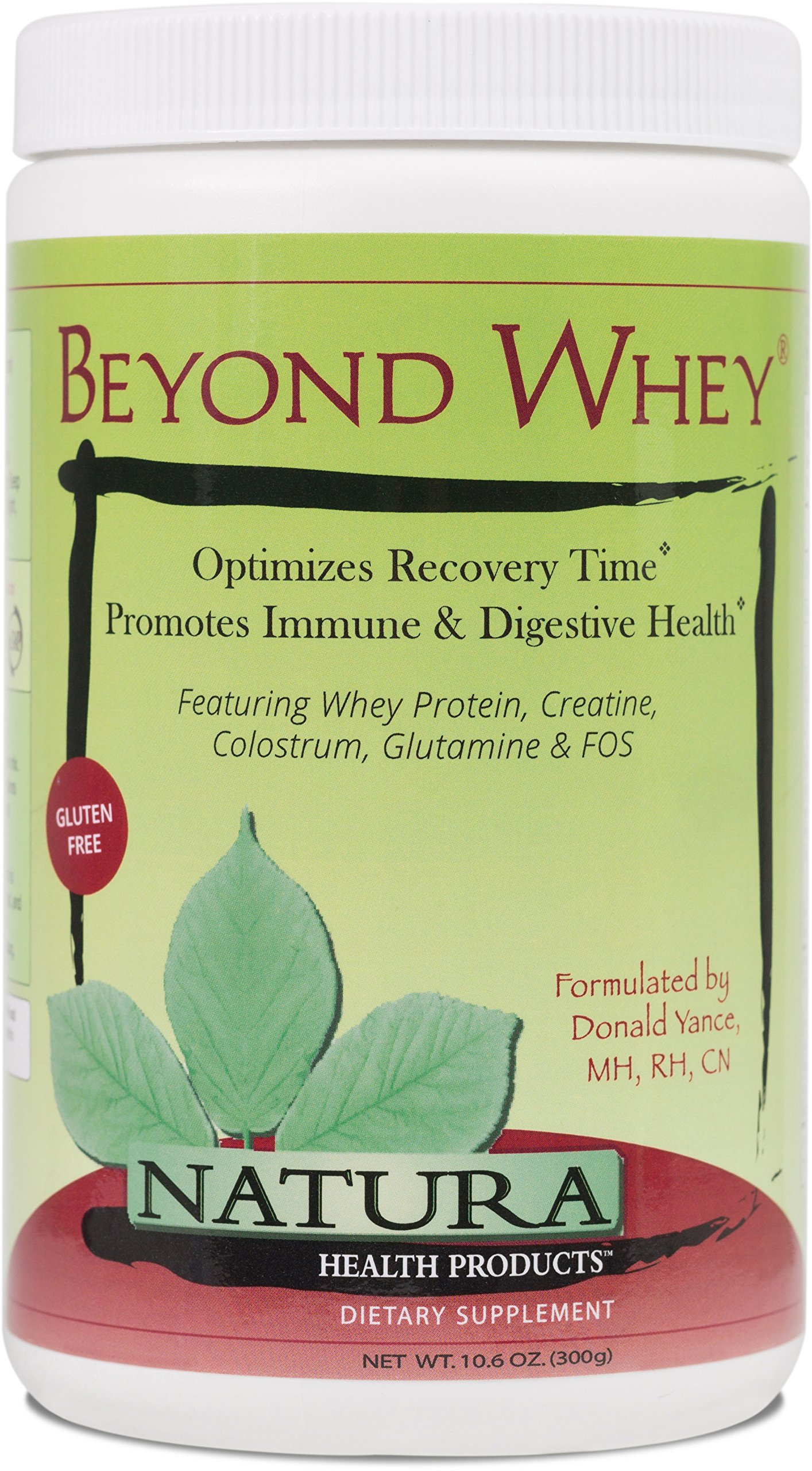 Natura Health Products - Beyond Whey - Nutrients for muscle support and recovery after strenuous exercise or stress - 300 Grams (10.6 Ounces) Powder