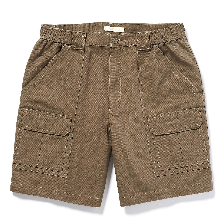 Savane Mens Comfort Hiking Cargo Shorts (38, Major Brown)